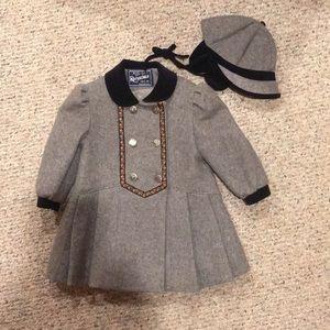Rothschild little girl's holiday coat & hat